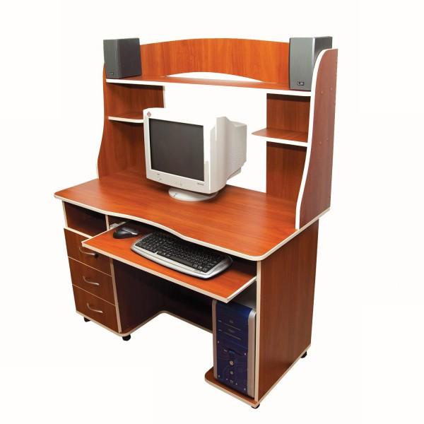 Компьютерный стол цвета вишни