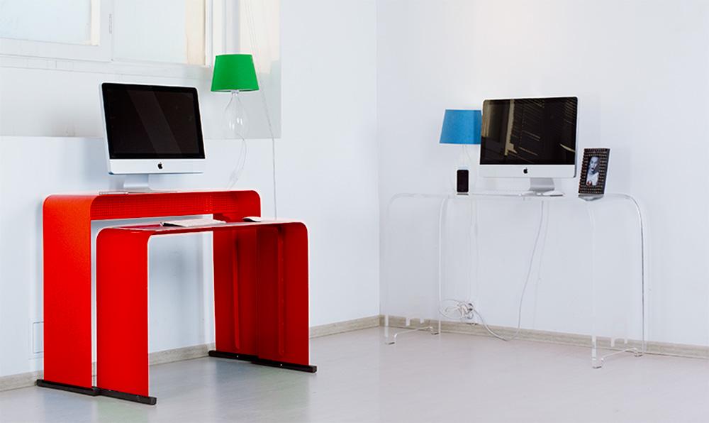 Дизайнерский компьютерный стол: черный, серый, черно-белый, .