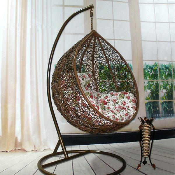 Плетеные подвесные кресла своими руками 71