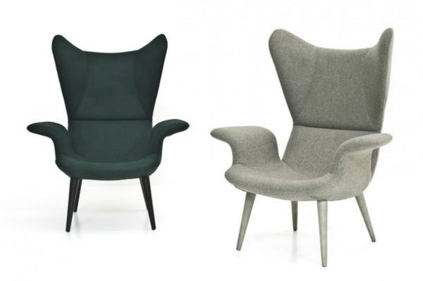 Удобное мягкое кресло для отдыха с высокой спинкой