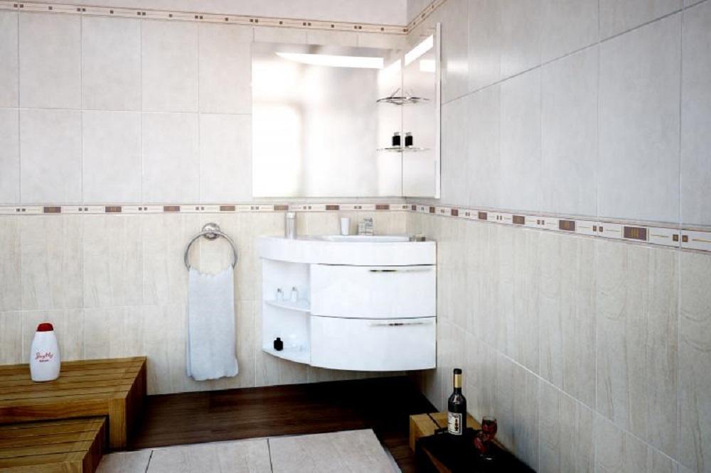 Угловая тумба для ванной комнаты - сберегающий пространство предмет мебели