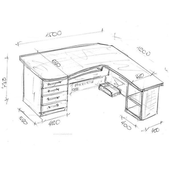 Как сделать угловой стол своими руками чертежи