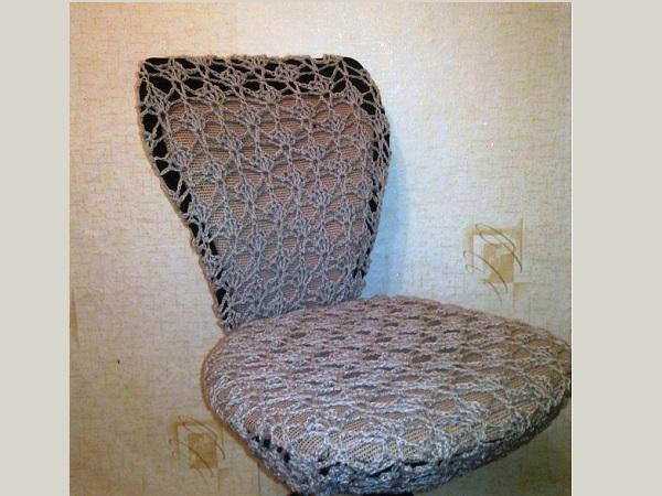 Чехол для кресла офисного своими руками