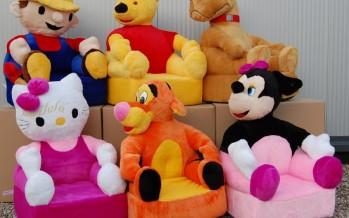 детские мягкие кресла в форме игрушки