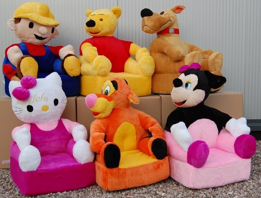 Мягкие детские кресла в виде животных они плавно