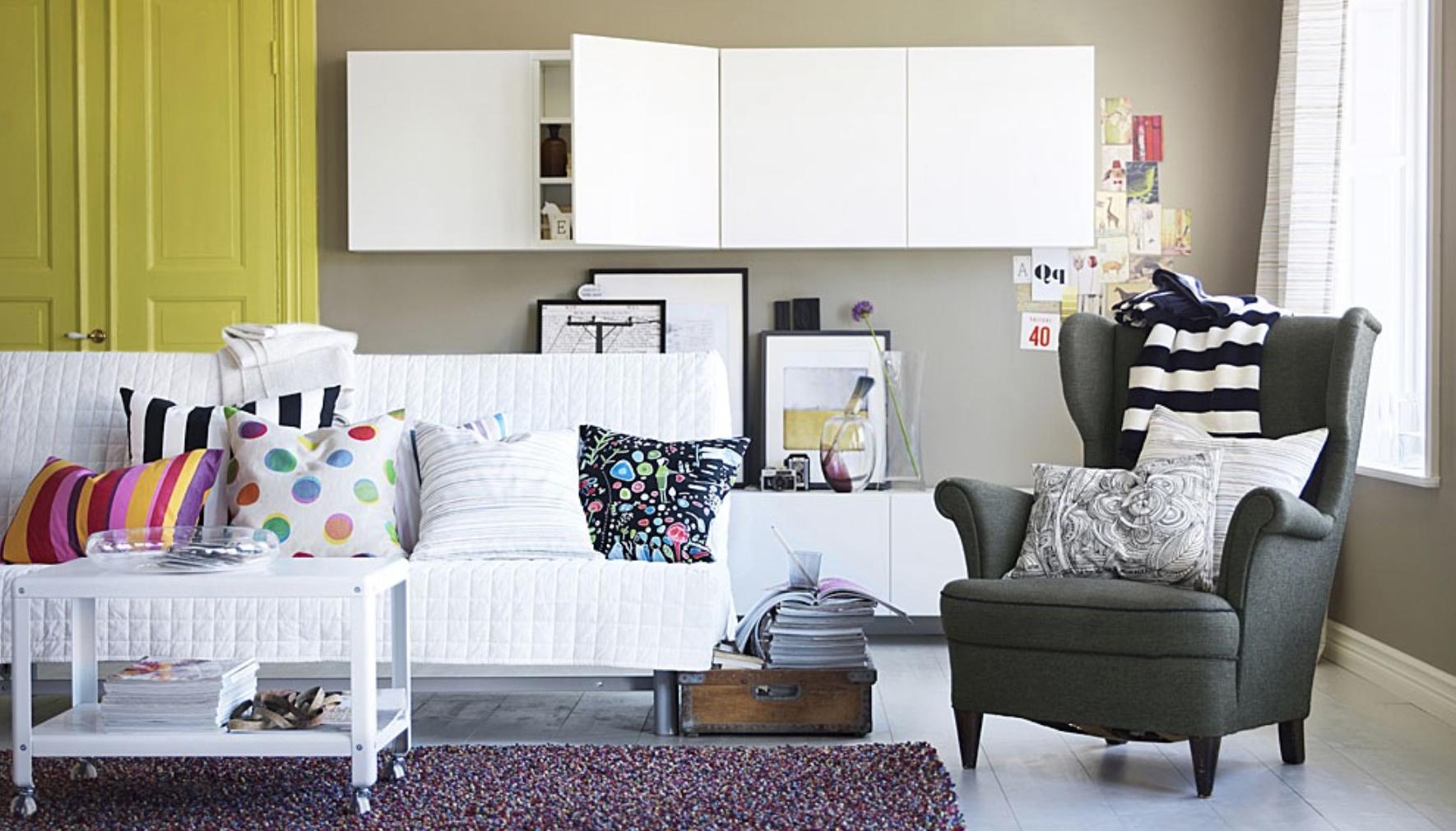 Мягкое кресло от Икеа для гостиной – комфорт, лаконичность и практичность