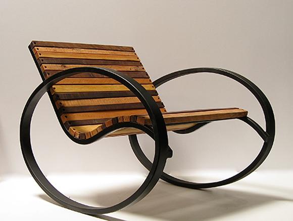 кресло качалка своими руками из металла
