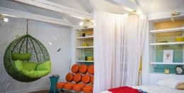 Плетеное подвесное кресло – традиционный уют в необычном исполнении