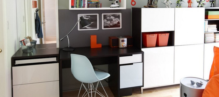 письменный стол с надстройкой стильный