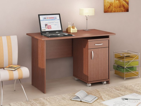 письменный стол с выкатной тумбой