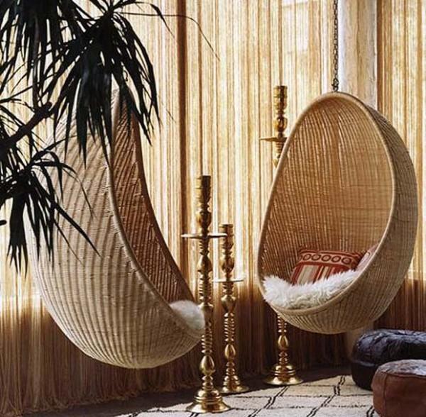 плетеного подвесного кресла