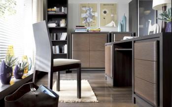 прямой компьютерный стол цвета венге