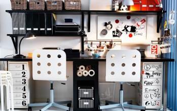рабочее место и письменный стол из икеа