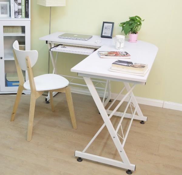 угловой компьютерный стол белый фото