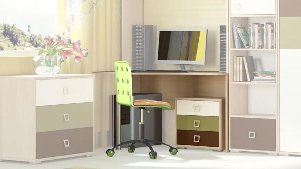 угловые письменные столы для школьника фото