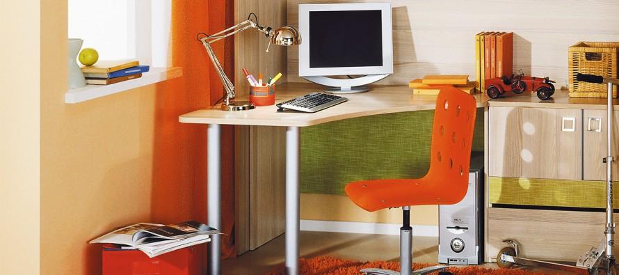 угловые письменные столы для школьников и взрослых фото