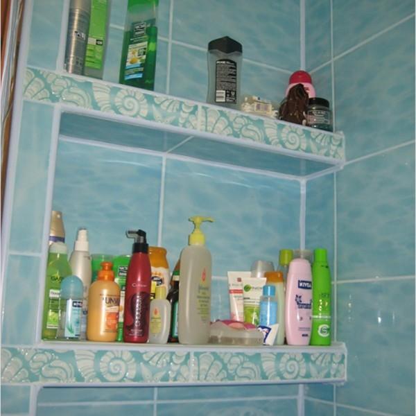 Фото полки для ванной своими руками