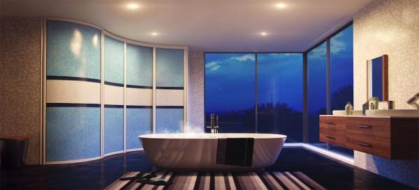 Фото радиусного углового шкафа для ванной комнаты