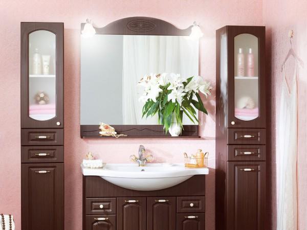 """Фото шкафа для ванной комнаты """"под дерево"""""""