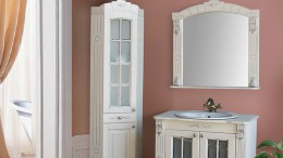 Угловые шкафы и пеналы в ванной комнате – оригинальное решение для особых случаев