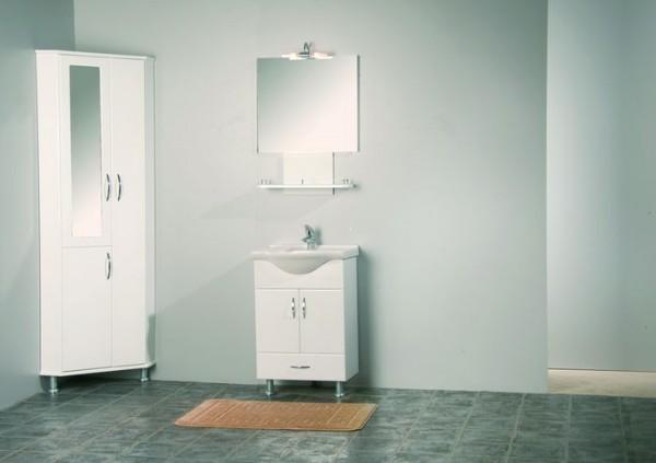 Угловой шкаф в ванную