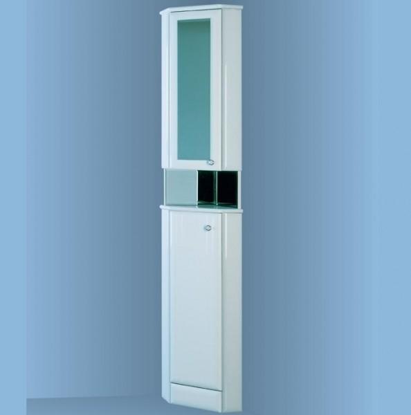 Угловой зеркальный шкаф в ванную комнату