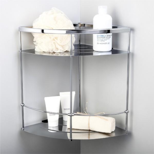 Угловые полки для ванной комнаты металл