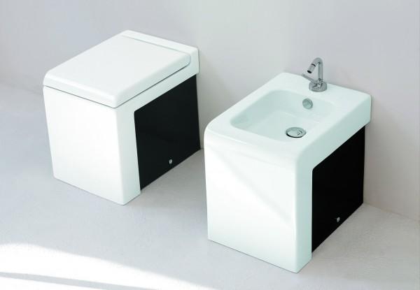 Унитаз Artceram La Fontana White-Black Sideboards приставной с горизонтальным выпуском, без бачка