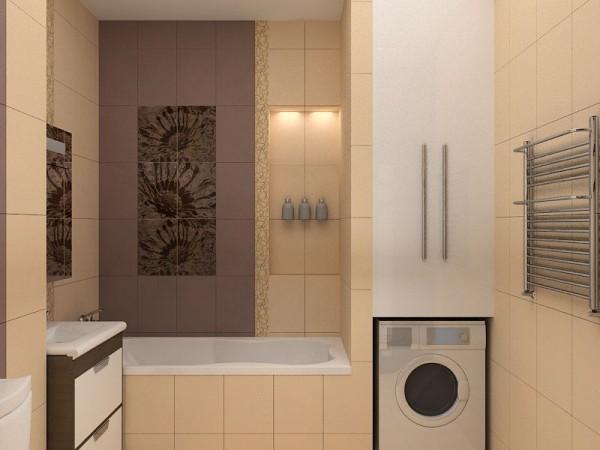 Встроенный шкаф над стиральной машиной