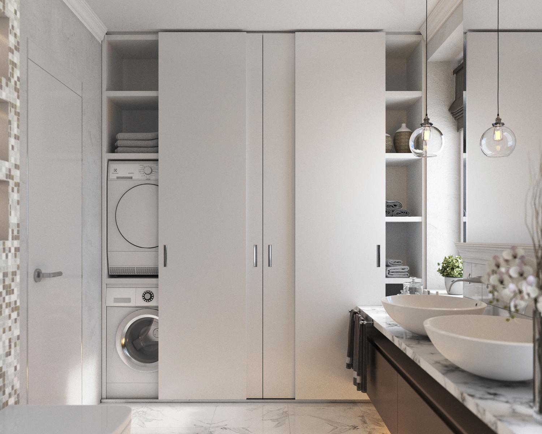 Сделать своими руками встроенный шкаф в ванную комнату: фото.