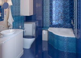 Асимметричная ванна: функциональная нестандартность и оригинальное интерьерное решение