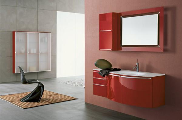 красная тумба в ваную
