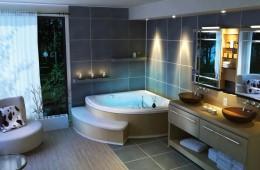 Угловая полка — практичный и функциональный аксессуар для ванной комнаты