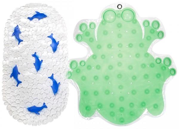 резиновый яркий коврик в ванную