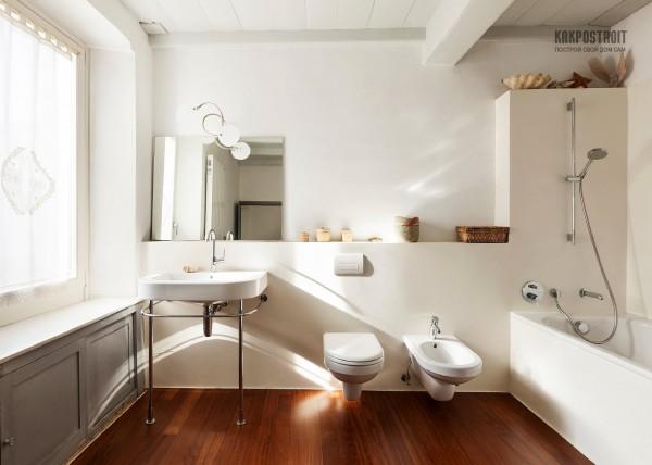 современная ванная комната с биде