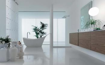 стеклянные и деревянные тумбы с раковиной для ванной