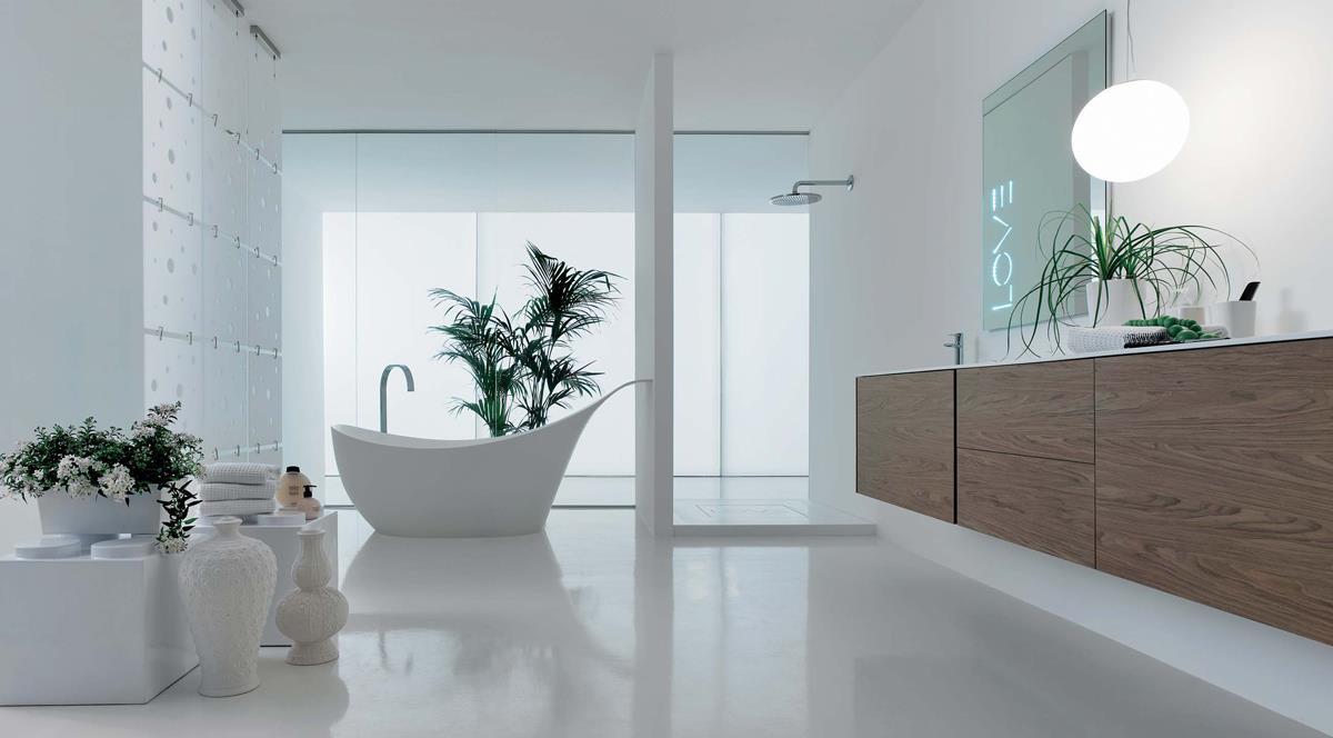 Стеклянные, пластмассовые и деревянные тумбы для ванной: красота и долговечность