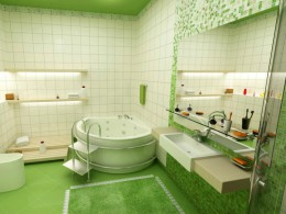 Стеклянные полки в ванную комнату: практичность и красота
