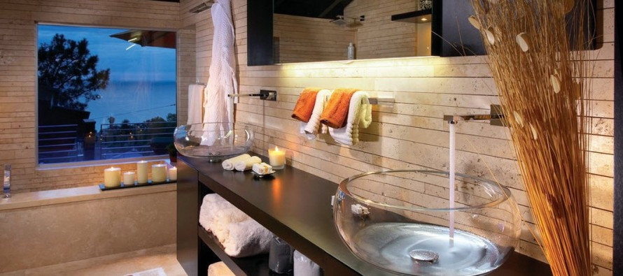 стеклянные умывальники для стильных  ванных комнат