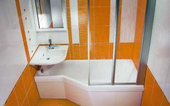 угловые раковины в ванную комнату стильные в оранжевом цвете