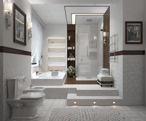 ванна и душевая кабина в ней