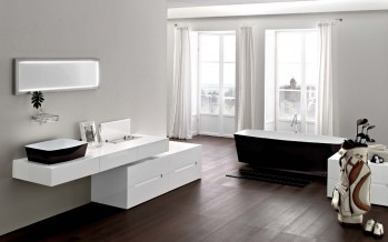 ванна в ванной комнате на фото